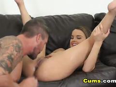 Teen Sucks Her Boyfriends Dick And Fucks