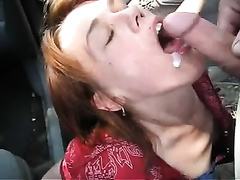 Compilation video with dilettante whores giving heads in a car