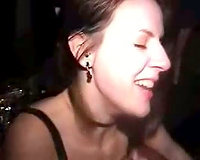 Drunk and concupiscent college Married slut at party willing to engulf and fuck a dark 10-Pounder