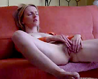 Skinny blond can't live without a dark pecker whilst masturbating