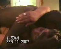 Great interracial sex in a hotel bedroom