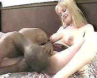 Busty golden-haired playgirl non-professional interracial fuck