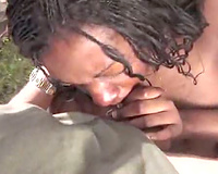 Black hotwife can't live without getting pounded outdoors
