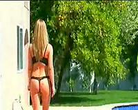 Blonde chick honey interracial anal scene