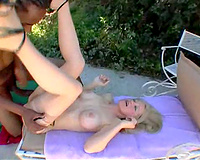Busty golden-haired milf anal screwed outdoor