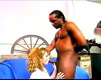Blonde acquires her pierced muff stuffed