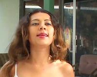 Brunette lolita engulfing huge dick