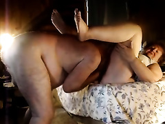 My bulky aged black cock sluts sucks my dong and lets me eat and fuck her muff