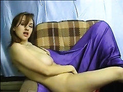 Awesome homemade solo with my juggy cheating wife toying her trench