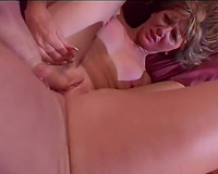 Husband watches his hawt horny white wife getting gangbanged indeed hard by other chap