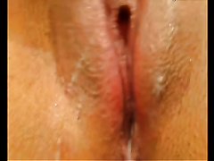 Shaved cookie pie of my sexy wife filmed closeup on webcam