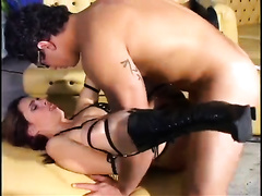Lascivious Latina wench acquires her constricted chocolate hole screwed hard and unfathomable