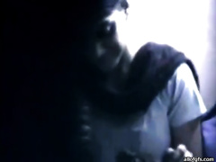 Hidden camera caught Indian slutty wife sucking hard schlong