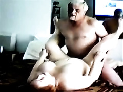Homemade scene with me pounding my bulky elderly wife's fur pie