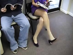 Spying on priceless looking babe in the doctor's office
