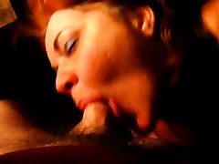 Redhead aged wench sucked my wang unfathomable and acquires sprayed with cum