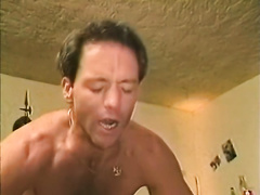 Hot like fire swarthy playgirl in red nylons had astonishing flying 69 fuck with white freak