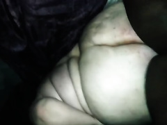 Crazy interracial anal sex with an obese white woman