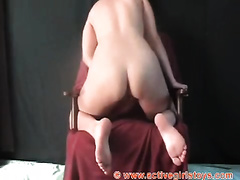 This lascivious and big O longing hoe is teasing her twat like a pro