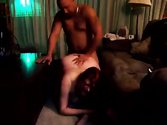 Redhead white bitch enjoys coarse rear banging with me
