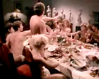 Wild ten people fuckfest and swinger party on the dinner table