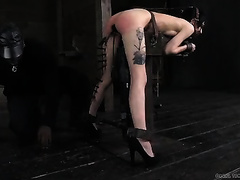 Tattooed skank with jet dark hair receives dominated like not ever before