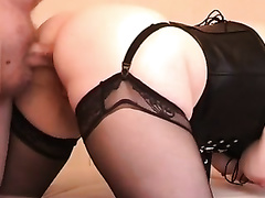 My paramour receives her chocolate hole screwed and creampied by me