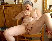 That bulky old breasty wife has a vibrator for masturbation