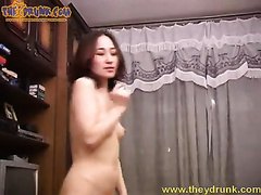 Erotic solo scene with slim Asian babe called Sveta