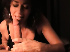 My helpful housewife sucks my cock untill it explodes with cum on her lips