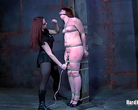 Super lustful redhead acquires her fur pie toyed in this BDSM scene