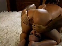 Cock engulfing diminutive brunette hair can't live without the 69 style for the warm up