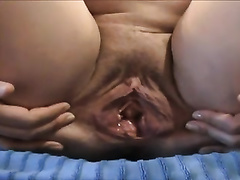 Loose old white wet crack of a big beautiful woman aged cheating wife on cam