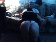 My chubby brunette horny white wife shows me her oral-stimulation skills