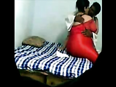 Orgasm craving Indian whore acquires group-fucked in missionary position