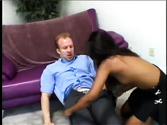 Exotic white wife gives a oral pleasure and gets her hairless cookie slammed