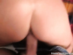 Playful blondie sucks hard dick and acquires gangbanged in doggy style