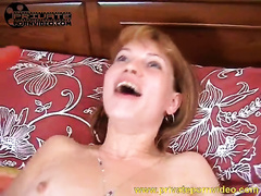 Redhead bitch toys her slit after getting it fingered