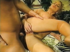 Hot and excited white hottie getting hardcore anal fuck