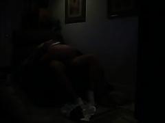 Horny girlfriend tops my dick in cowgirl pose on hidden webcam vid