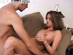 Breath taking golden-haired honey gives skillful oral sex in advance of hawt sex