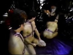 Three studs polish and finger fuck slit of one seductive Queen