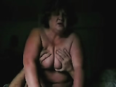 Big bottomed granny with humongous mambos knows how to ride a dick