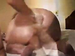 Fisting greased up butthole of my older dilettante horny white wife