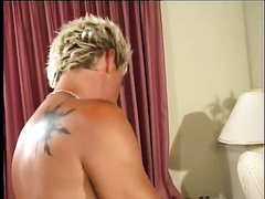 Pale-skinned bitch allows a dude to invade her vagina from behind