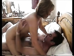 Amateur dark brown groans sweetly during the time that riding my friend's weiner