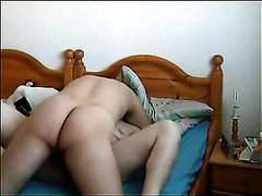 Invading my curly wife's moist cunt in the morning