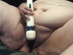 Fat a-hole mature wench is rubbing her slit with her sex tool