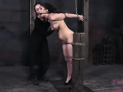 Extra horny dominant-bitch desires to chastise her serf truly hard