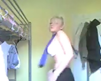 Homemade solo with me stripping and flashing my billibongs
